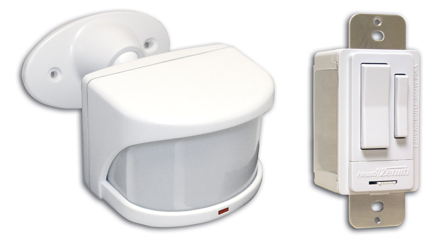 Motion Sensors For Outdoor Lighting: heath-zenith-sl-6053-wh-motion-detector-kit,Lighting